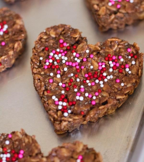 Healthy No Bake Valentine's Cookies