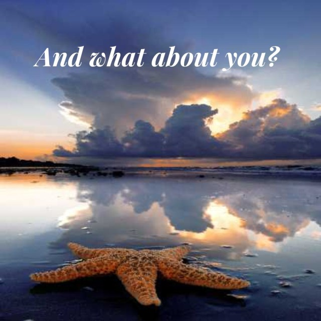 AWAY Starfish on a Beach
