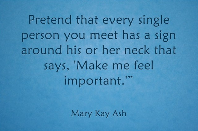 Mary Kay Quote Feel Important