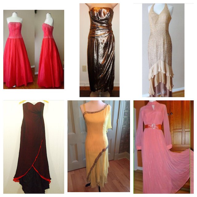 Vintage gowns on ebay