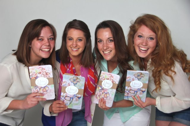 Ashley Vanbuskirk with Friends, Flora Stationery