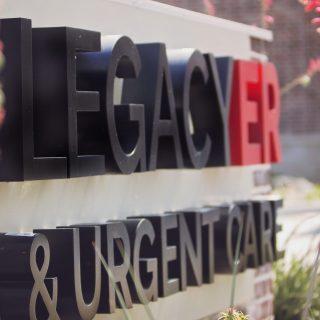 HeartStories Sponsor Legacy ER Urgent Care Sign