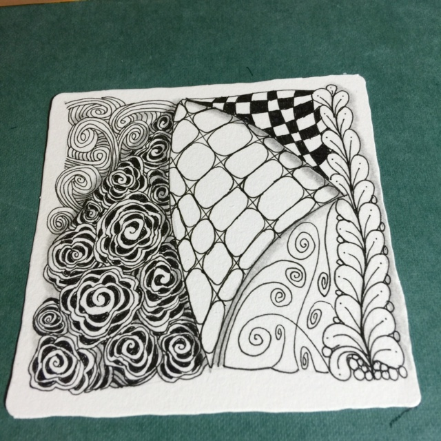 Kat's Zentangle Tile