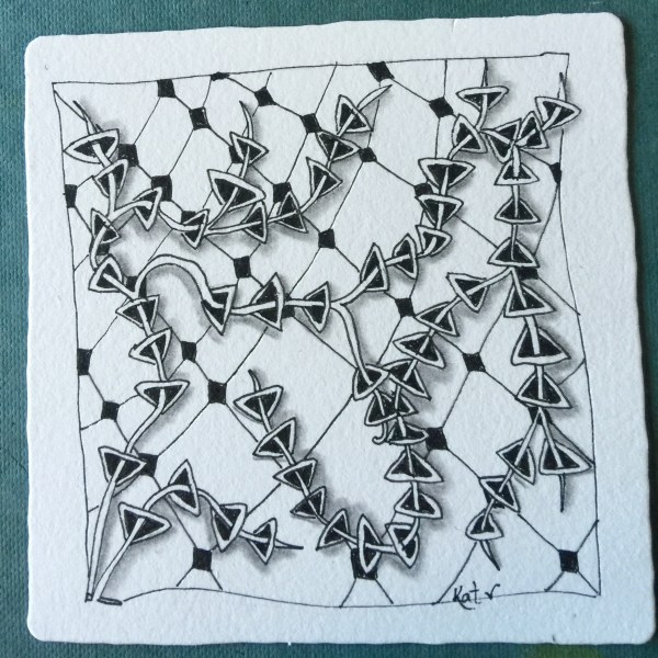 This shows how two different types of tangles can work together.