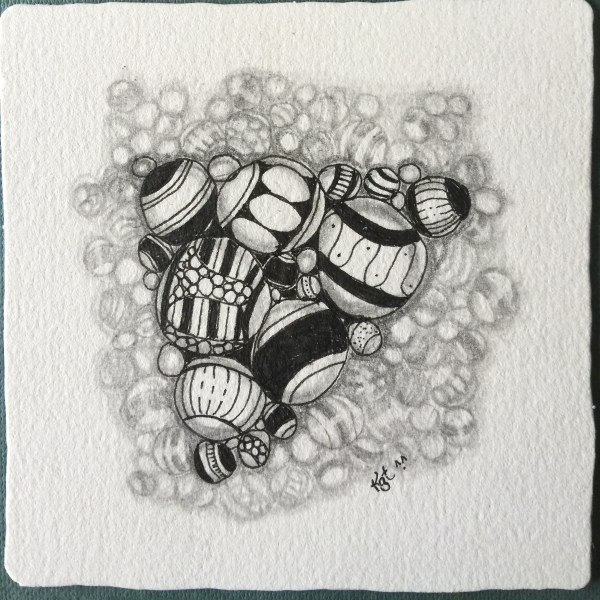 First one I'd  ever drawn using the 14 Shades of Gray technique designed by Sonya Yencer, CZT.