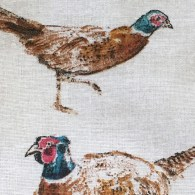 Pheasants Aga Cover - detail 1