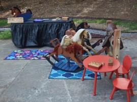 rocking horses in craft fair display