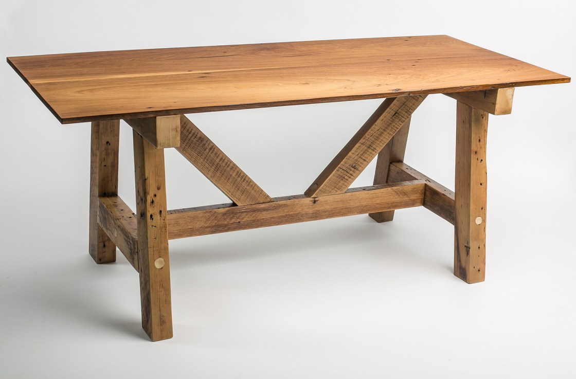 Poplar Trestle Dinner Table