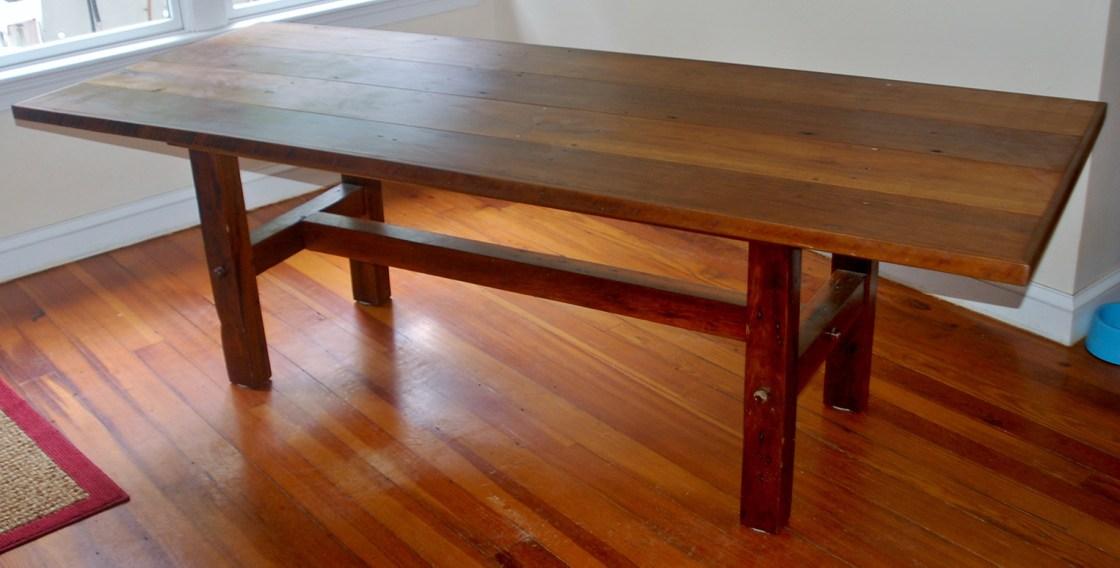 Reclaimed Poplar Dining Table