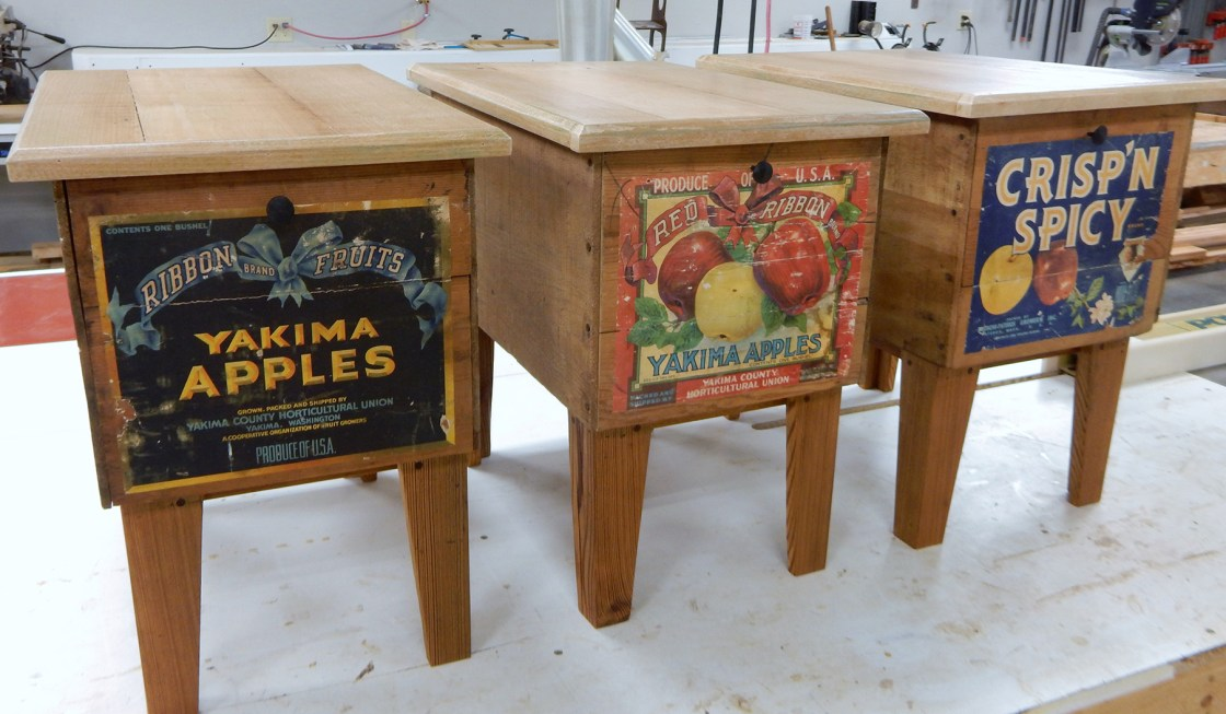 Vintage Fruit Crate End Tables