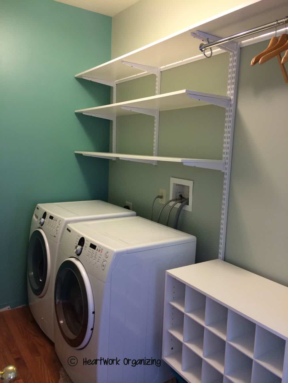 Laundry Room Makeover- Do-Able Details on Laundry Room Shelves Ideas  id=58191