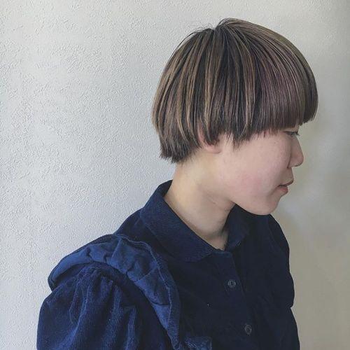 女子マッシュ♡コテもアイロンもいらない、オイルのみで仕上げる質感がかわいい♡ colorは、インナーローライトがオススメ︎ #HEARTY #高崎 #高崎美容室 #宮下スタイル #マッシュ #ショートマッシュ stylist @creamy_cn
