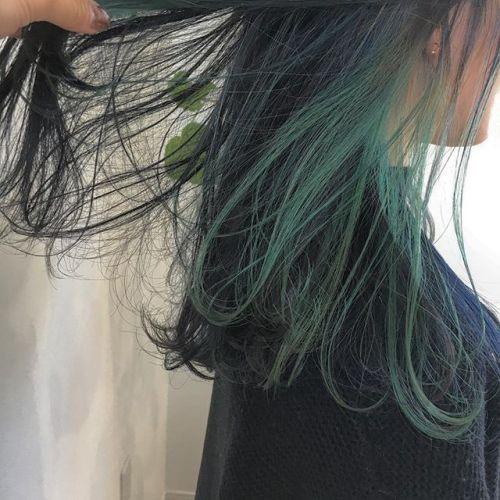 inner color🐊インナーのみでも かわいいです♡ #HEARTY #高崎 #高崎美容室 #宮下スタイル #インナーカラー #green #darkgreen stylist @creamy_cn