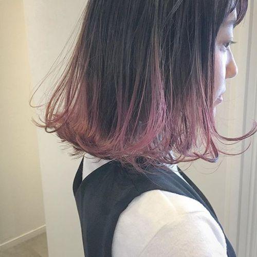 グラデーションver.ぴんく stylist @creamy_cn #HEARTY #高崎 #高崎美容室 #宮下スタイル #グラデーション #pink #ピンク #ボブ #bob