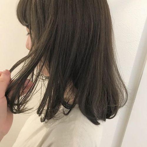 担当シオリ @shiori_tomii 柔らかいアッシュベージュ♡春っぽくてかわいいです♡#hearty#shiori_hair #アッシュベージュ#高崎美容室