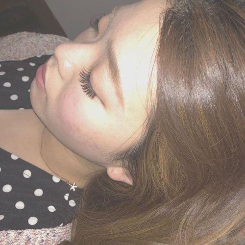 ..遠くからみても可愛い〜〜♡♡ふさふさなまつげ.mocha brown × orange brownbrown mix 🧡.ブラウンなので沢山付けても派手過ぎないのでオススメです︎.( @__ememr ).#HEARTY #eyelash