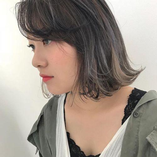 担当シオリ @shiori_tomii ハイライトをいれてムラムラcolor🦕#hearty#shiori_hair #ハイライト#グレージュ#高崎美容室