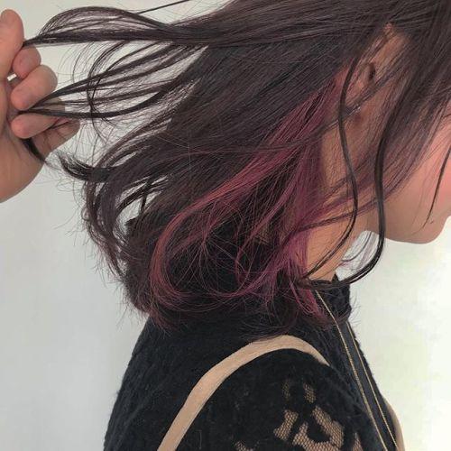 担当シオリ @shiori_tomii 春らしくポイントカラーでpinkをポイントカラーは¥2500で入れられるのでおすすめです璉#hearty#shiori_hair #高崎美容室#ポイントカラー#ピンクブラウン