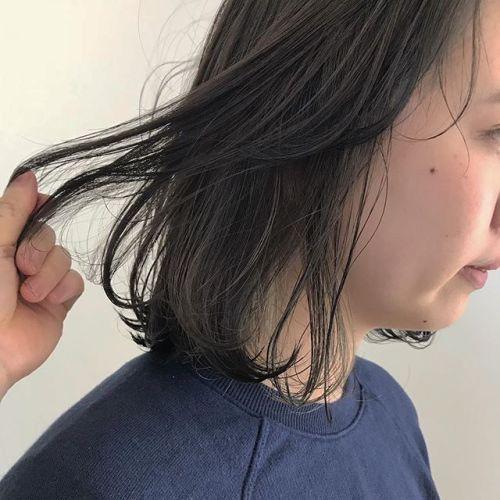 担当シオリ @shiori_tomii もみあげcolorBOBにも動きがでてかわいいです🧚♀️#hearty#shiori_hair #もみあげカラー#高崎美容室#グレージュ