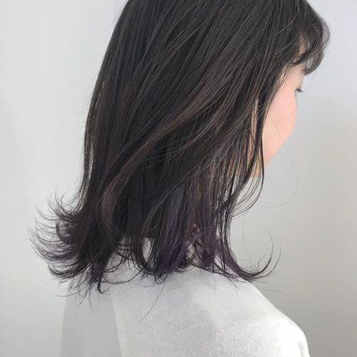 担当シオリ @shiori_tomii グレージュから毛先にかけてラベンダーグラデーション#hearty#shiori_hair #ラベンダー#グラデーション#高崎美容室