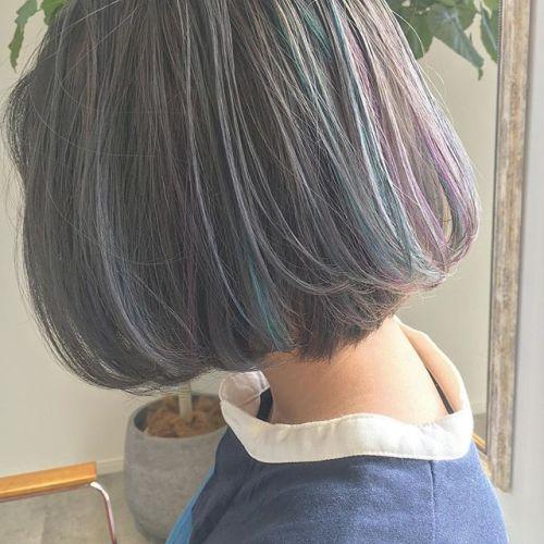 mixcolorとってもかわいいです♡♡ @creamy_cn #HEARTY #高崎 #高崎美容室 #宮下スタイル #ボブ #ハイライト #highlight #ハイトーン