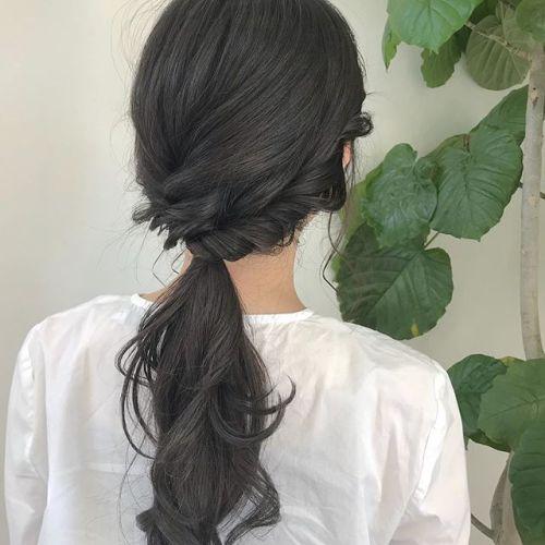 担当シオリ @shiori_tomii 暗めなグレージュ#hearty#shiori_hair #グレージュ#高崎美容室#hairarrange #ヘアアレンジ#透明感カラー