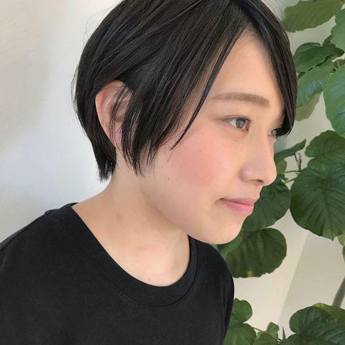担当シオリ @shiori_tomii 巻かないでラフにショートを楽しむhair#hearty #shiori_hair #shorthair #ショートヘア#高崎美容室#高崎