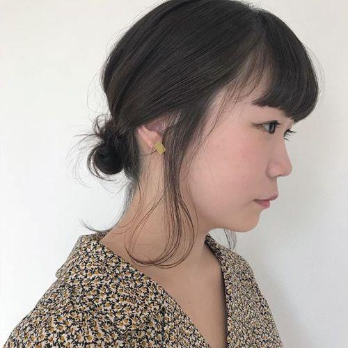 担当シオリ @shiori_tomii BOBでもゆる団子arrange#hearty#shiori_hair #お団子アレンジ #hairarrange #高崎美容室#高崎