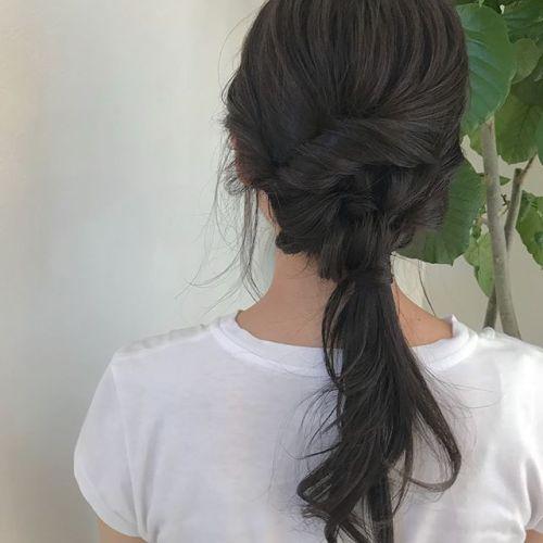 担当シオリ @shiori_tomii hairarrange🤸♀️🤸♀️ #hearty#shiori_hair #hairarrange #ヘアアレンジ#高崎#高崎美容室