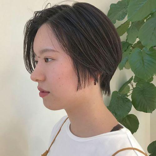 担当シオリ @shiori_tomii 大人short🥀🥀#hearty#shiori_hair #大人ショート #ショートヘア#高崎美容室#高崎