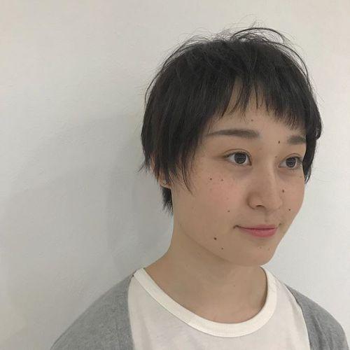 担当シオリ @shiori_tomii アシンメトリーバングがかわいい🧚♀️#hearty#shiori_hair #ショートヘア#高崎美容室#高崎