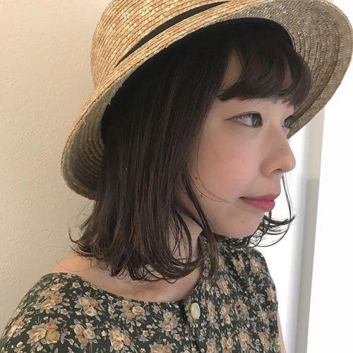 担当シオリ @shiori_tomii ばっさりBOBカット帽子かぶった姿がかわいかったので🤸♀️#hearty#shiori_hair #bob#高崎美容室#高崎