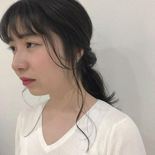 担当シオリ @shiori_tomii カラーのあとのアレンジも希望があればおっしゃってくださいね🧚♀️🧚♀️初カラーでブルージュに#hearty#shiori_hair #ブルージュ #ヘアアレンジ#hairarrange #高崎美容室#高崎
