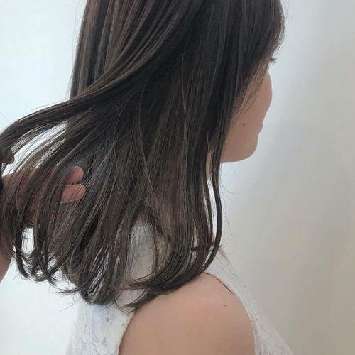 担当シオリ @shiori_tomii ハイライトをたくさんいれてムラカラー#hearty#shiori_hair #ハイライト#ムラカラー#グレージュ#高崎美容室#高崎