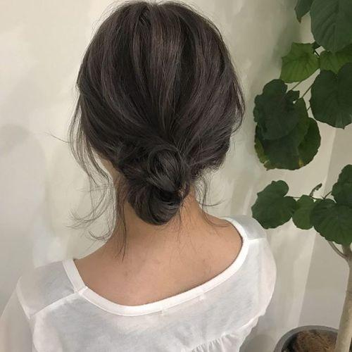 担当シオリ @shiori_tomii ヘアアレンジ2style#hearty#shiori_hair #お団子アレンジ #ヘアアレンジ#高崎美容室#高崎