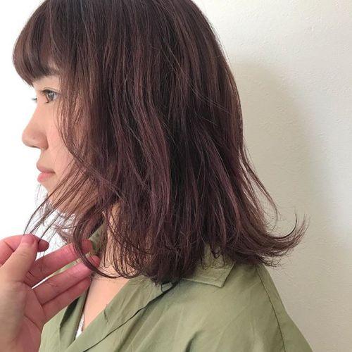 担当シオリ @shiori_tomii pink brown#hearty#shiori_hair #ピンクブラウン#ピンクアッシュ #高崎美容室#高崎