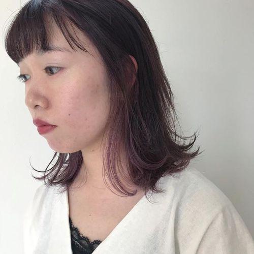 担当シオリ @shiori_tomii dark cherry color#hearty#shiori_hair #ラベンダー#グレージュ#アッシュベージュ #カラーバター#高崎美容室#高崎