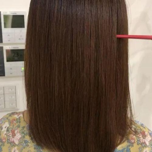 担当シオリ @shiori_tomii 大好評すぎるロイヤルトリートメント🐈最高な仕上がりです#hearty#shiori_hair #ロイヤルトリートメント#トリートメント#艶#艶髪 #艶髪文化