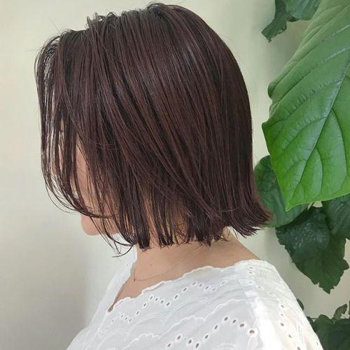 担当シオリ @shiori_tomii 大人めにpink brownの切りっぱなしbob hair🧢🧢仕上げはウェットで決まりです♡#hearty#shiori_hair #bob#切りっぱなしボブ#ピンクアッシュ#ピンクブラウン #ヘアスタイル#ヘアカラー#高崎美容室#高崎