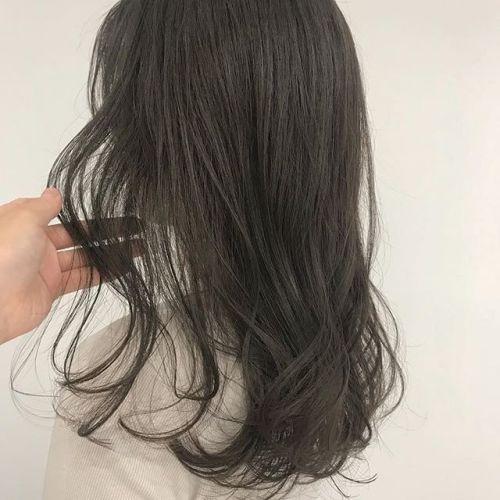 ブリーチなしのグレージュカラー#hearty#shiori_hair#ヘアスタイル#ヘアカラー#グレージュ#ベージュ#高崎美容室#高崎