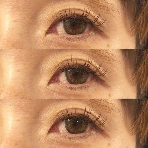 ..秋色eyelash mochabrownとorangebrown mix ︎ eyedesigner emiri ︎ #hearty #eyelash