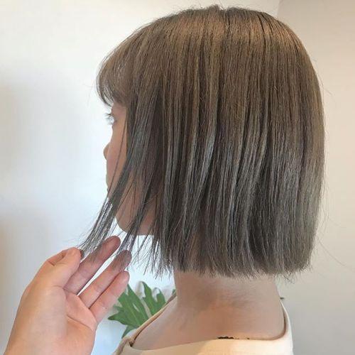 担当シオリ @shiori_tomii creamy beige#hearty#shiori_hair#bob#ヘアスタイル#ヘアカラー#高崎美容室#高崎