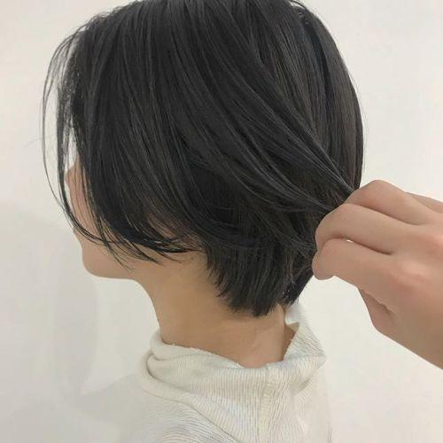 担当シオリ @shiori_tomii ブリーチなしのグレージュカラー#hearty#shiori_hair #グレージュ#ショートヘア#透明感カラー#ヘアカラー#ヘアスタイル#高崎美容室#高崎