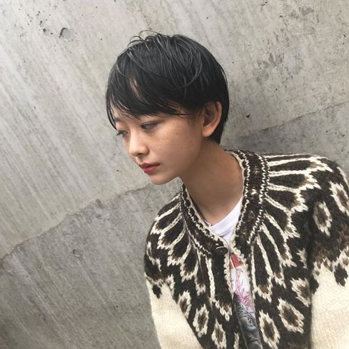 autumn ウェットなショートヘアが可愛いね・@shun09250 #hair#mash#autumn#goody