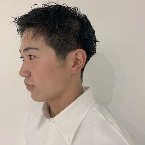 担当シオリ @shiori_tomii オシャレ高校生スッキリと刈り上げてウェットスタイリングで!#hearty#shiori_hair #メンズヘア#刈り上げショート #高崎美容室#群馬美容室#高崎#群馬