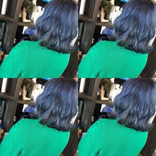 blue green︎・・最近流行りの淡いブルーグリーンかわいいです @shun09250・・#HEARTY#abond#高崎#高崎美容室#群馬#ブリーチカラー#ハイライト#ヘアカラー#ブリーチ#外国人風カラー#外ハネ#ブルージュ#波ウェーブ#グレージュ#カーキグレージュ#アッシュグレージュ#ネイビー#ネイビーカラー#ポイントカラー#アデルブルーは熱い色