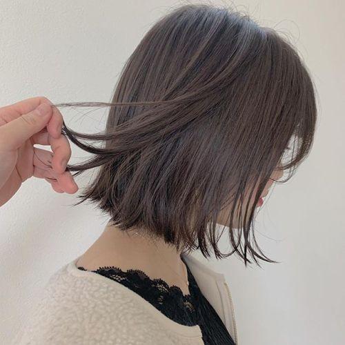 担当シオリ @shiori_tomii アッシュベージュで明るめBOB hair#hearty#shiori_hair #アッシュベージュ#ベージュ#グレージュ#高崎美容室#群馬美容室#高崎#群馬