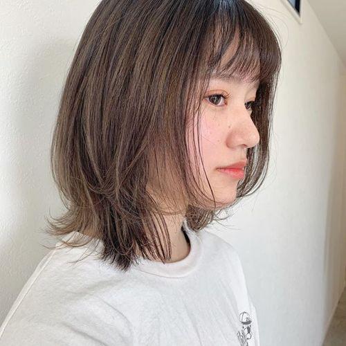 担当シオリ @shiori_tomii 顔まわりにレイヤーを入れて動きが出るように♡切りっぱなしも可愛いですが、ラフボブも素敵です♡#hearty#shiori_hair #ラフボブ#切りっぱなしボブ#ハイライト#高崎美容室#群馬美容室#高崎#群馬