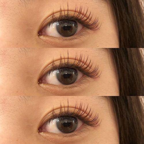 ..HEARTY EYELASH .新成人のお客様のまつげ♡.khaki brown × orange brown ×mochabrown の3色mix .°.eyelist ᝰ @__ememr .#HEARTY #eyelash#まつげエクステ #マツエク#高崎まつげ #高崎美容室#成人式マツエク#カラーまつげエクステ