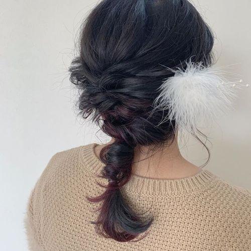 担当シオリ @shiori_tomii 二次会ヘアセット🥀#hearty#shiori_hair #ヘアセット#ヘアアレンジ#二次会ヘア #高崎美容室#群馬美容室#高崎#群馬